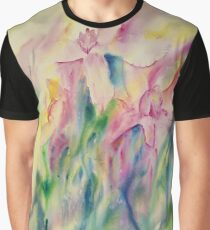 Rainbow Orchids Graphic T-Shirt