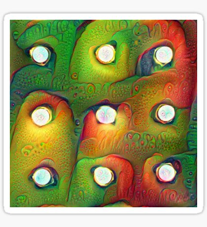#DeepDream Lights Glossy Sticker