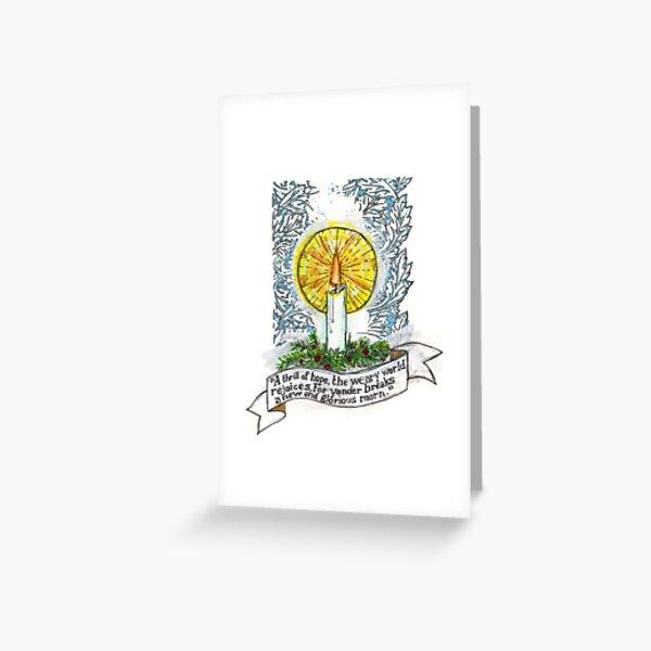 """O Holy Night""- Candle Greeting Card"