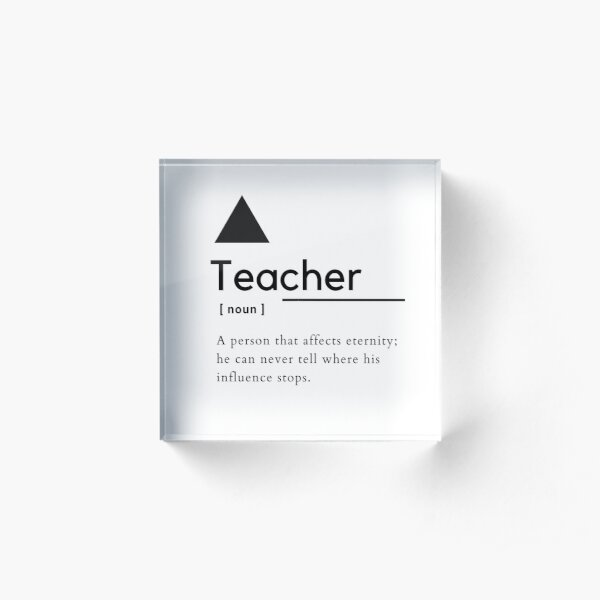 Noun Montessori Symbol Acrylic Block