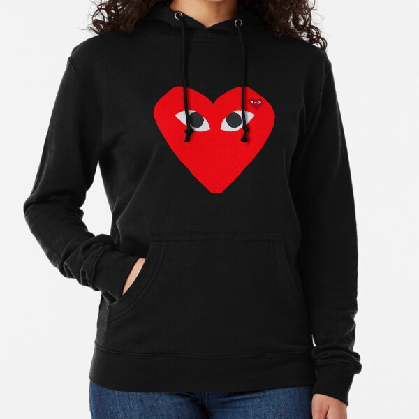 Cdg play Comme Des Garçons Play red heart T-shirt 2020 Lightweight Hoodie