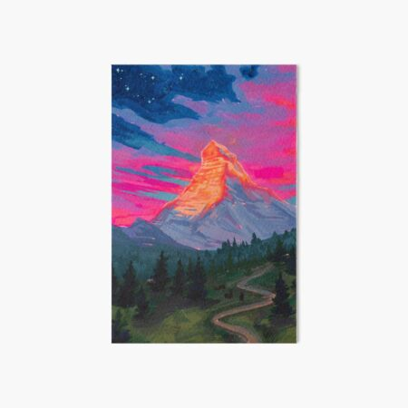 Landscapes as Zodiac Signs- Capricorn / Matterhorn Art Board Print