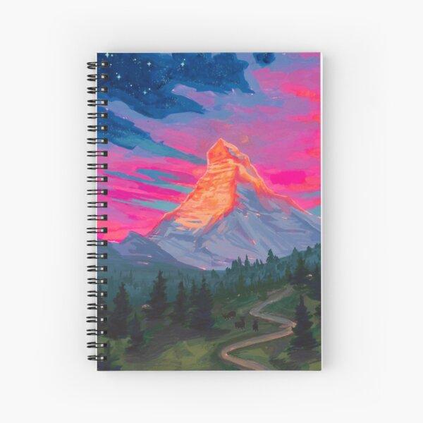 Landscapes as Zodiac Signs- Capricorn / Matterhorn Spiral Notebook