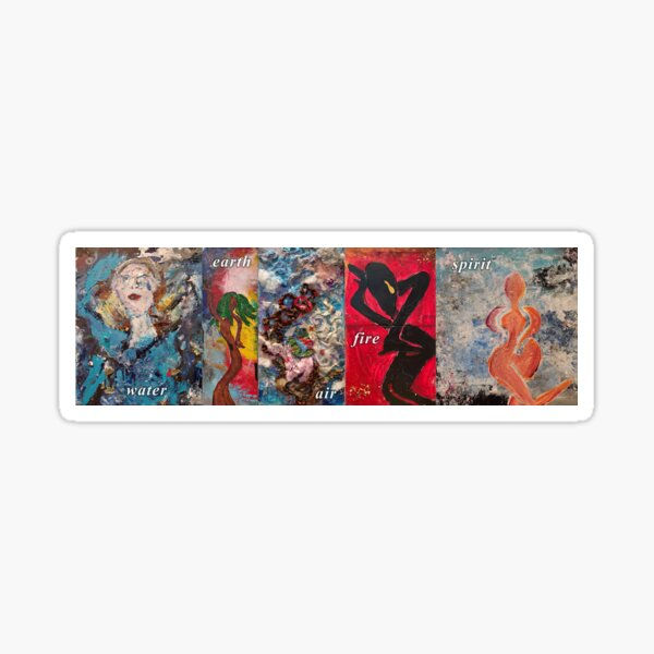 Five Elements of Creation Fire Air Water Earth Sticker