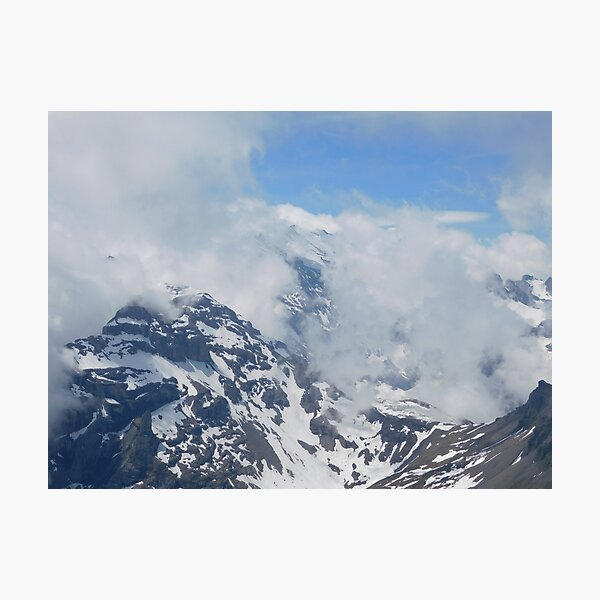 Snow Trench Mountain Photographic Print