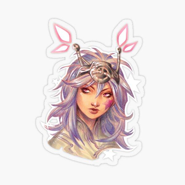 Pastel sci-fi girl portrait Transparent Sticker
