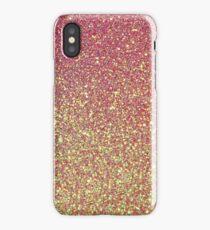 Pink Gold Glitter Texture iPhone Case