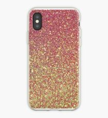 Pink Gold Glitter Texture iPhone Case