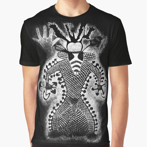 Bee Faced Sharman [white] Graphic T-Shirt
