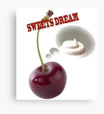 sweets dreams their sweet dreams - cherry Canvas Print