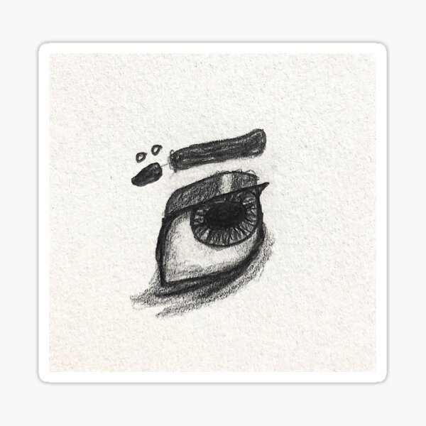 Exhausted Eye drawing Sticker