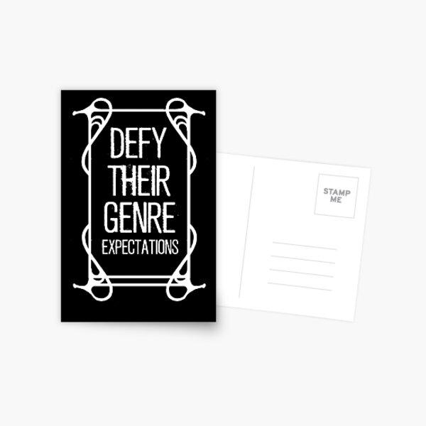 Defy Their Genre Expectations Postcard