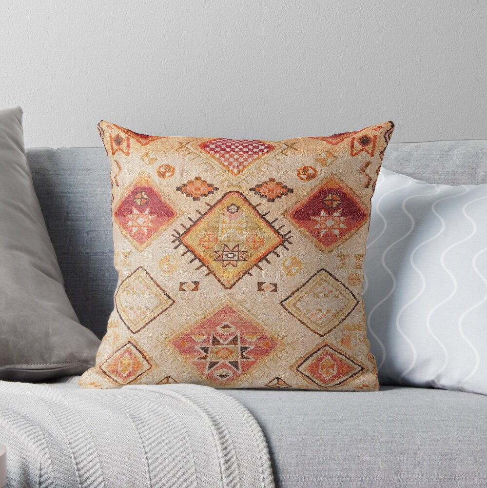 Vintage Berber Desert Traditional Moroccan Style  Throw Pillow