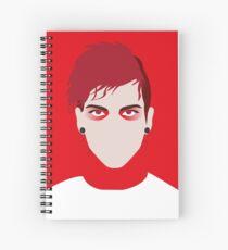 Josh Dun minimalism Spiral Notebook