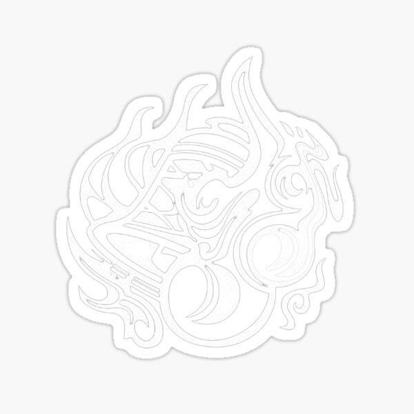 hestia crest white sticker by bdartz redbubble