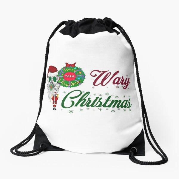 Wary Christmas - Covid Christmas 2020 Drawstring Bag