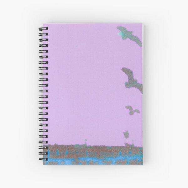 Birds and a Pier Spiral Notebook