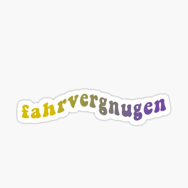 Fahrvergnugen Stickers Redbubble Get the best deal for bumper sticker from the largest online selection at ebay.com. redbubble