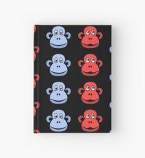 Cheeky Chimps, Red and Blue Hardcover Journal