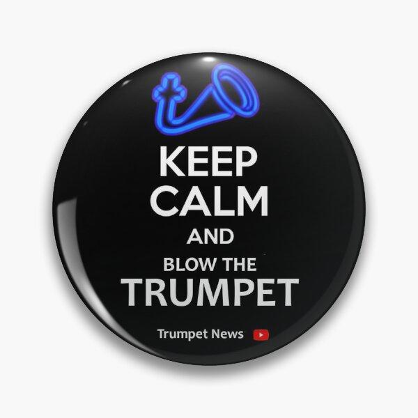 Trumpet News Mug Pin
