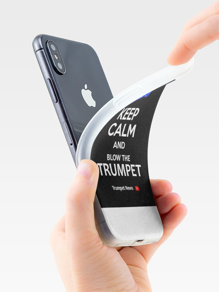 Alternate view of Trumpet News Mug iPhone Case & Cover
