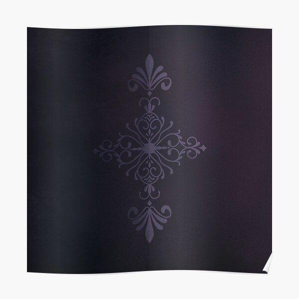 Purple Velvet Motif Poster