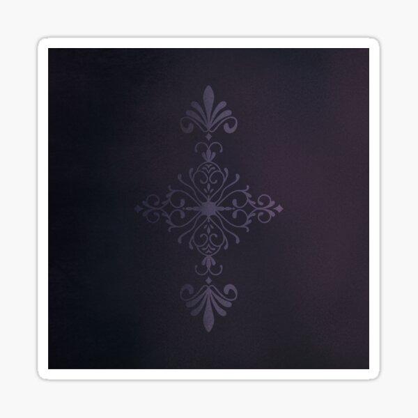 Purple Velvet Motif Sticker
