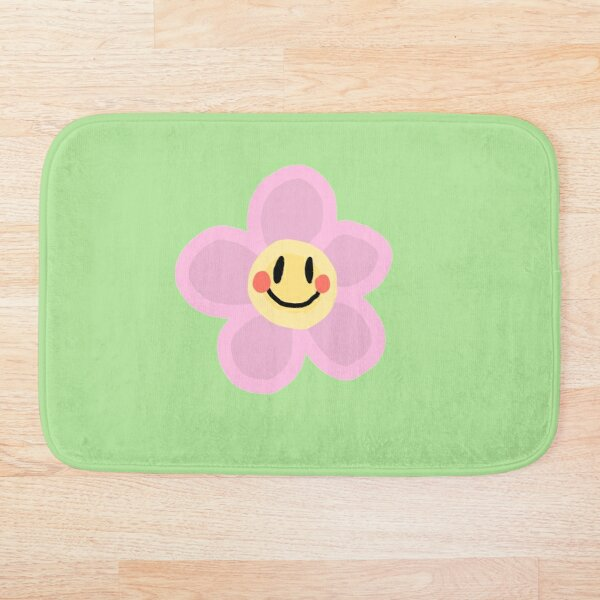 Smiley Flower Bath Mat