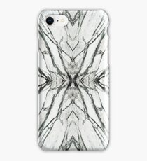 White marble butterfly phone case iPhone Case/Skin
