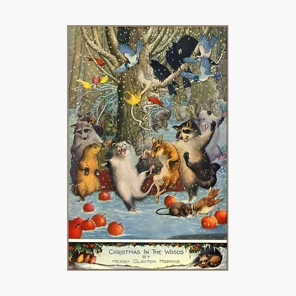 """""""Christmas in the Woods"""" by Henry Clayton Hopkins (1920) Photographic Print"""