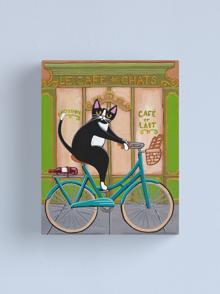 Alternate view of Bicycle Bread Run Cat  Canvas Print