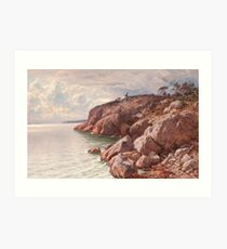 HJALMAR MUNSTERHJELM, COSTAL VIEW WITH ROCKS Art Print