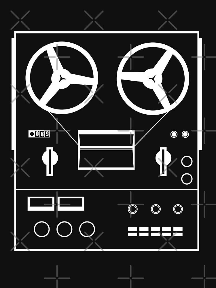 reel tape recorder - white by kislev