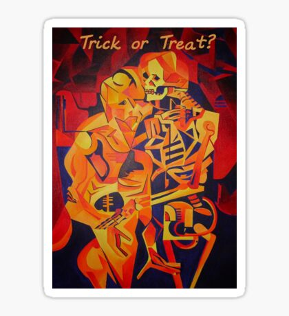 Trick or Treat Corpse Embracing Death After Kubista Sticker