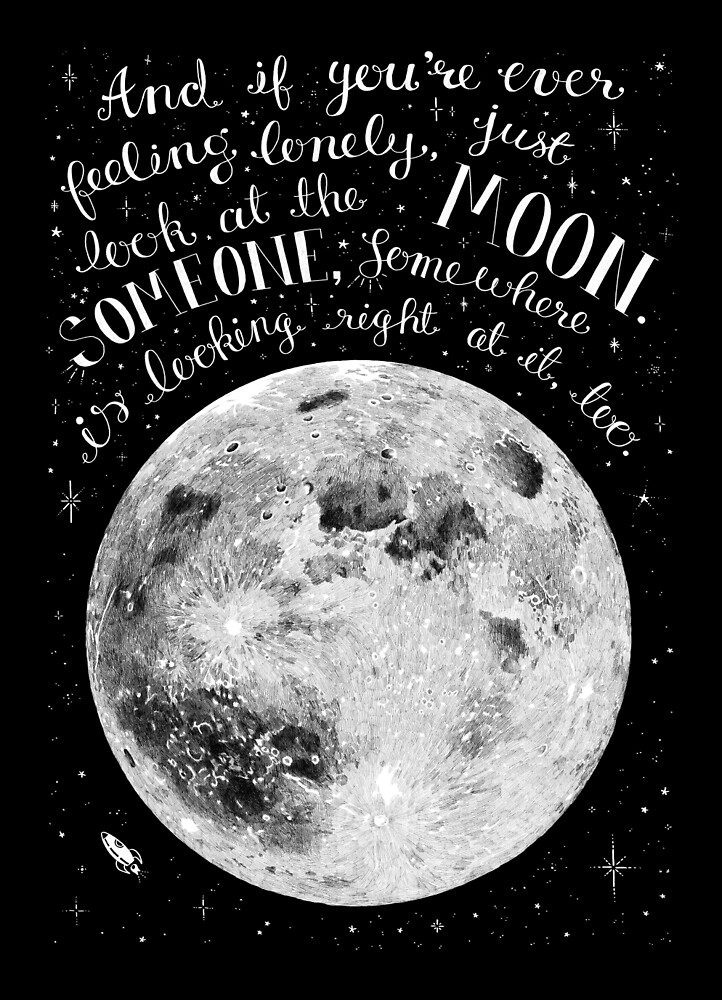 Mond mit romantischem Zitat von skrich