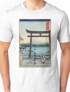 Gateway To Enoshima In Sagami - Hiroshige Ando - 1858 - woodcut Unisex T-Shirt