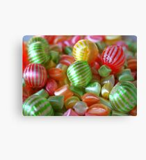 Multi-Colored Striped Candy Canvas Print