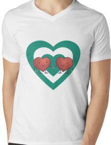 HEART 2 HEART Mens V-Neck T-Shirt