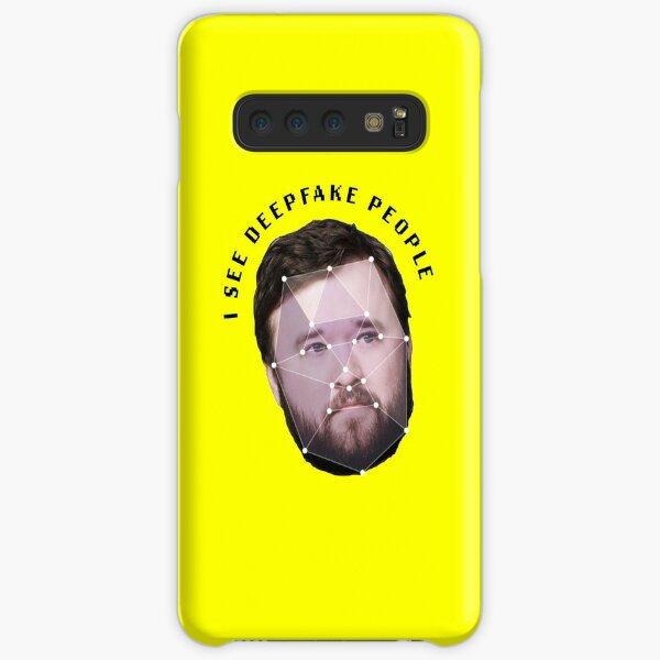 I see deepfake people. Samsung Galaxy Snap Case