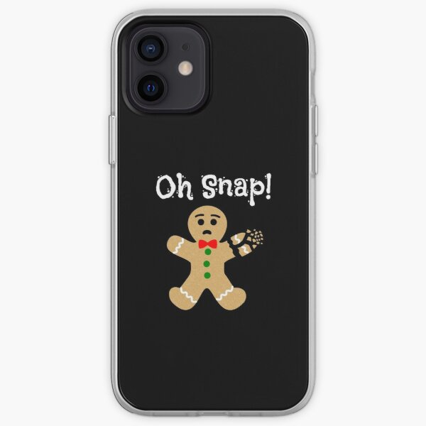 Christmas Gingerbread Man Oh Snap Cute Xmas Cookie iPhone Soft Case