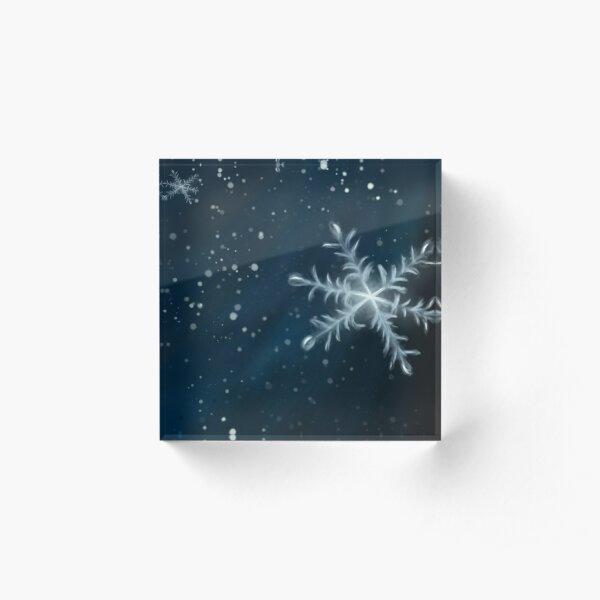 snow fall Acrylic Block