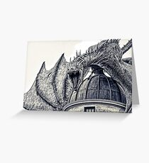 Hungarian Horntail Dragon Greeting Card