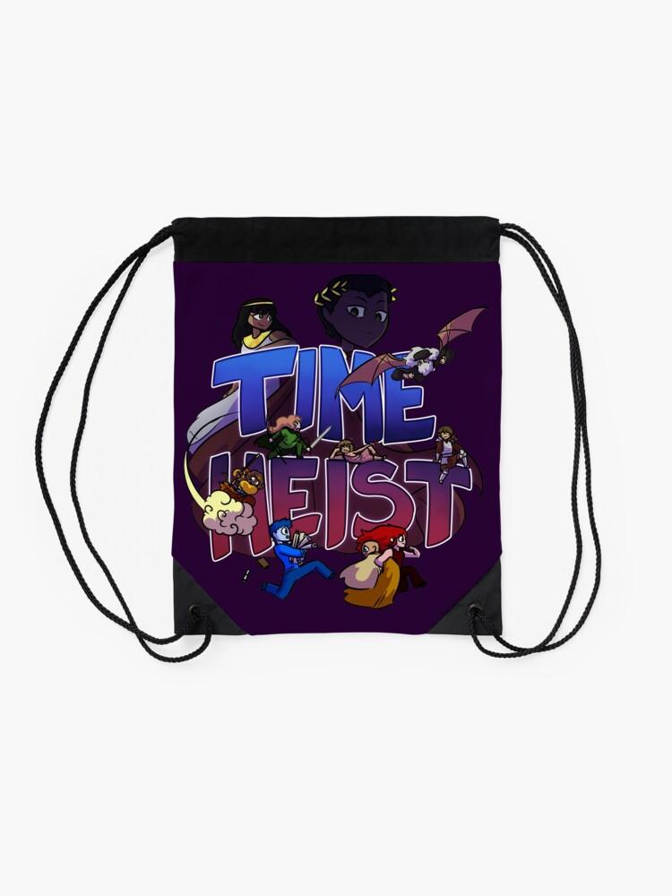 Alternate view of Time Heist Drawstring Bag
