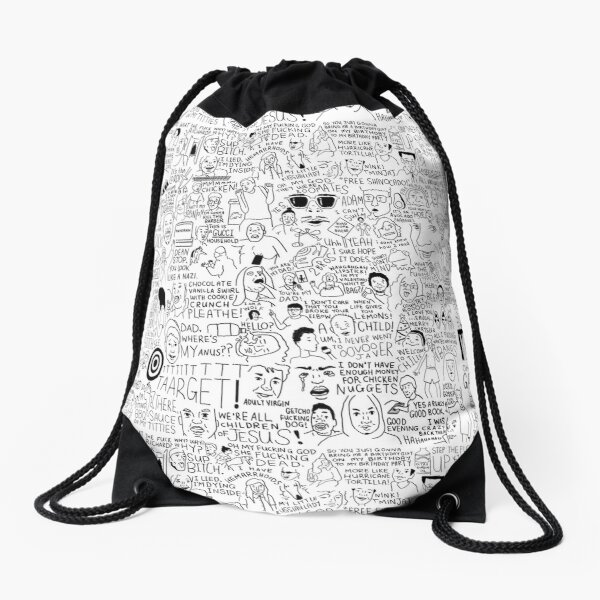 an Ultimate vine compilation but instead of a video its just terribly drawn  Drawstring Bag