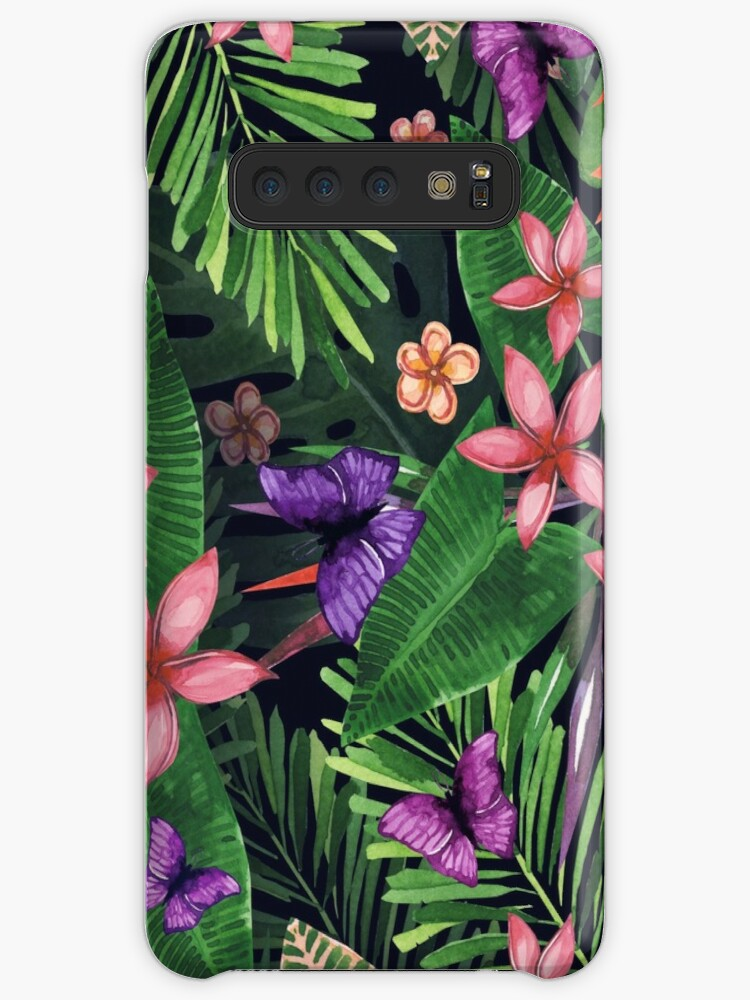 bbdfa70adedb 'Tropical flowers pattern of exotic flower and plants. Realistic watercolor  painting jungle: exotic flowers, butterfly and leaves. Exotic tropical ...