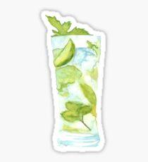 Mojito Watercolour Cocktail Sticker