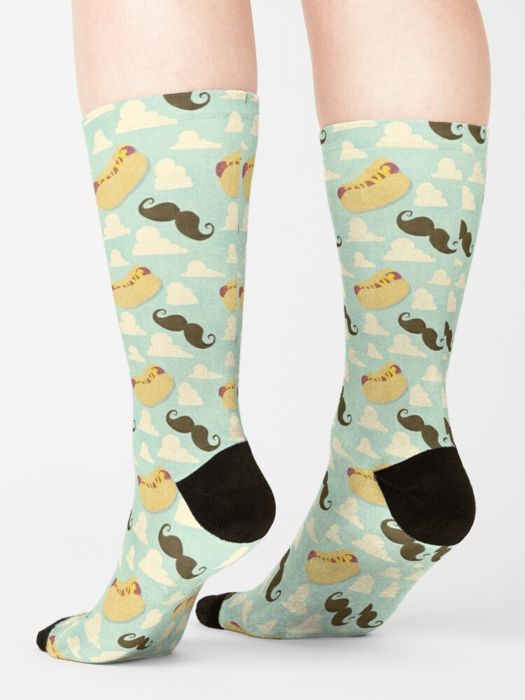 Alternate view of Mustaches & Mustard Hot Dogs Socks