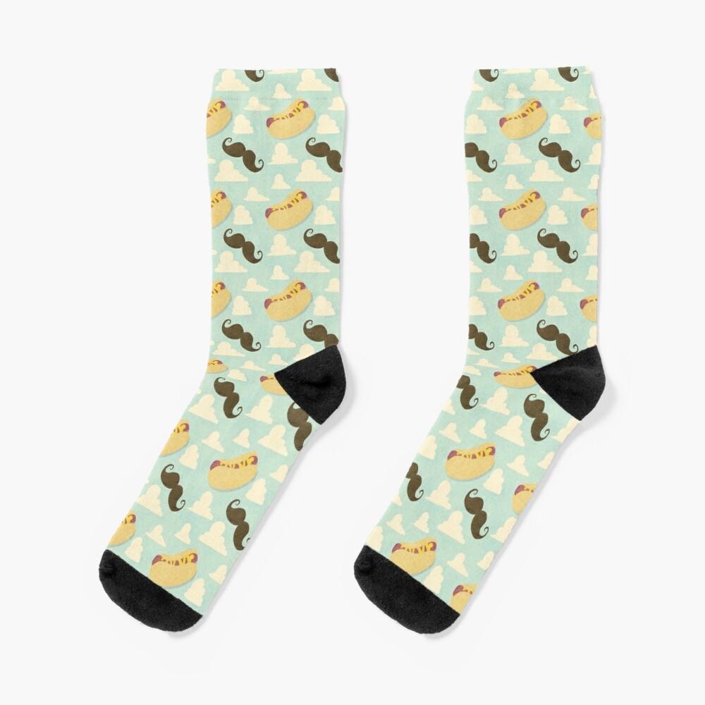 Mustaches & Mustard Hot Dogs Socks