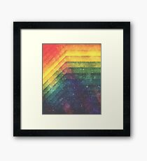 Time & Space Framed Print
