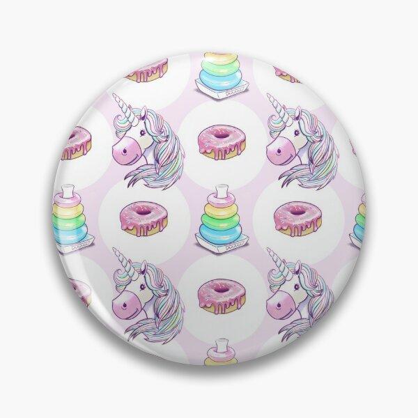 Unicorn Donut Ring Stack Game Pin